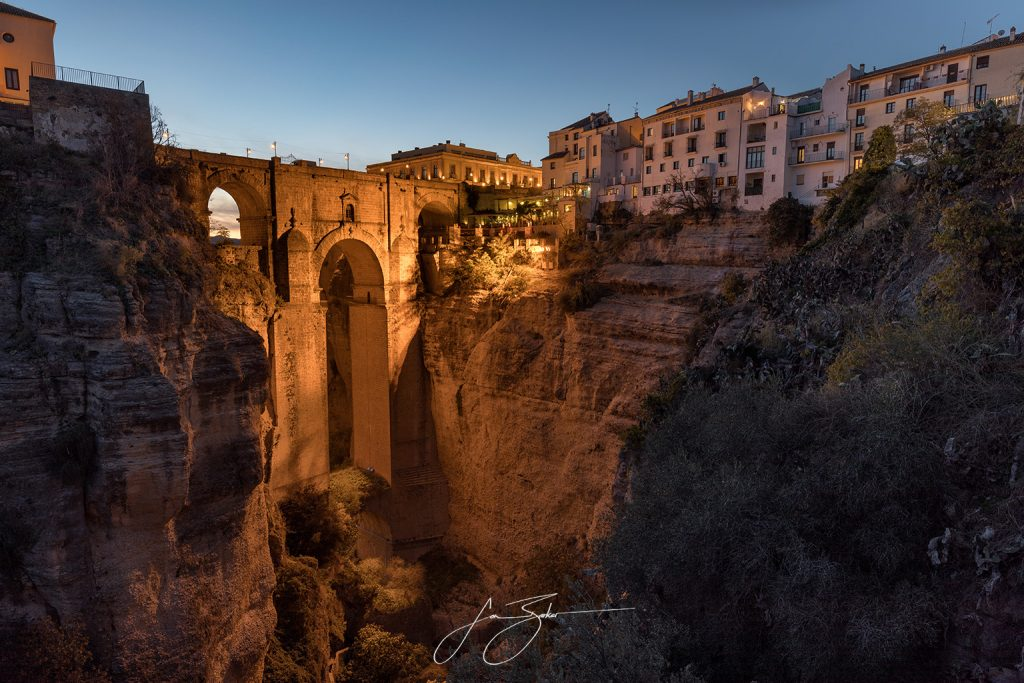 Ancient Crossing - Ronda, Spain by Jon Barker