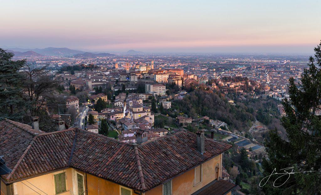 Last Light on Bergamo Alta - Bergamo, Italy by Jon Barker