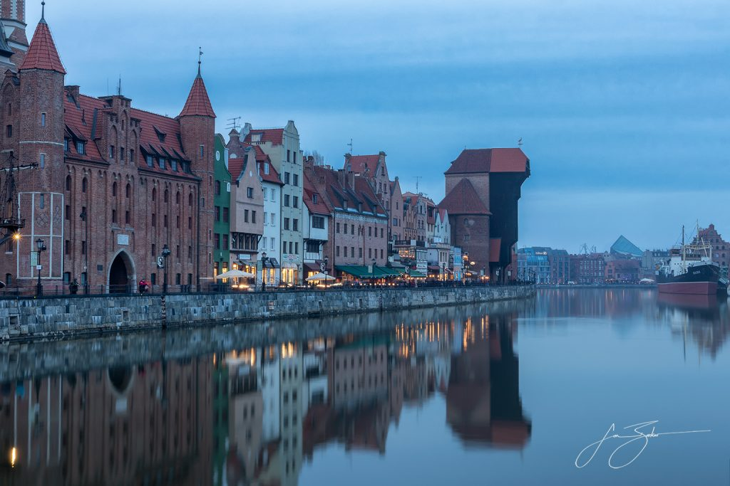 Twilight in Gdansk - Gdansk, Poland by Jon Barker