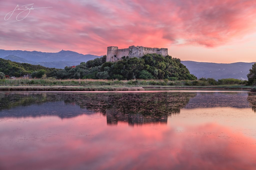 Sunset Over Griva Castle by Jon Barker