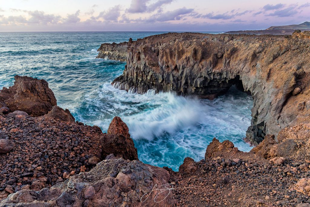 Lose Hervideros in Lanzarote by Jon Barker