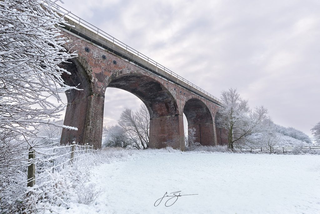 Winter on the Went in West Yorkshire by Jon Barker